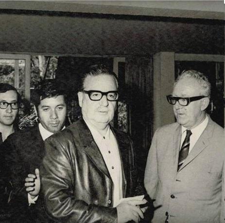 Hugo Moreno Peralta con Dr. Allende