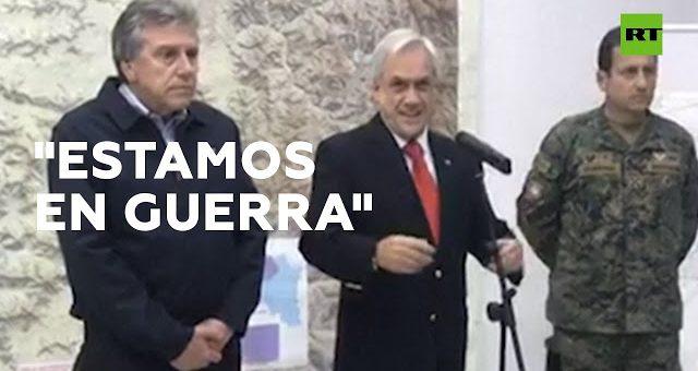 En el Chile virtual, el régimen Piñerista de la sofofa, le declara la guerra al Pueblo Chileno.