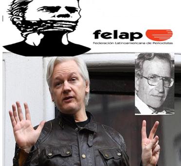 """El Professor Dr. Noam Chomsky afirmó: """"Julián Paul Assange prestó un servicio enorme a todas las personas que valoran la libertad de expresión y la democracia, y que demandan el derecho a conocer lo que hacen sus representantes"""" …"""