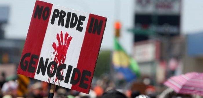 Canadienses se levantan contra la historia de genocidio del País.
